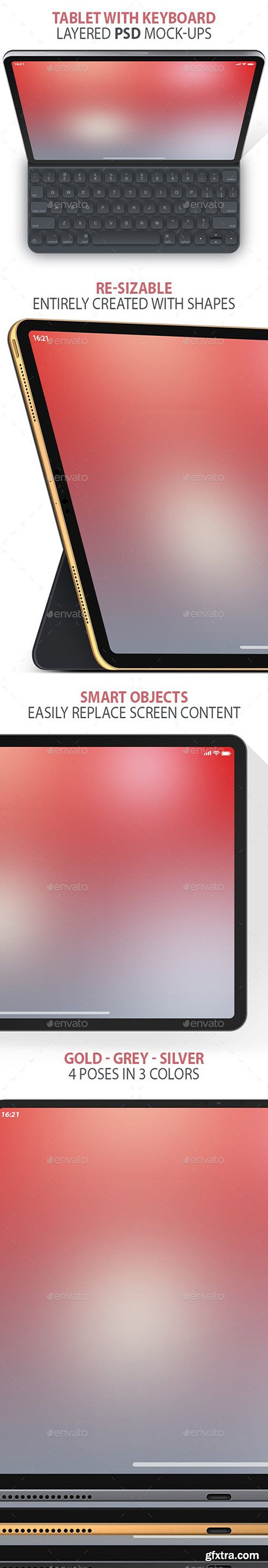 Clean Tablet Layered PSD Mock-ups 23086943