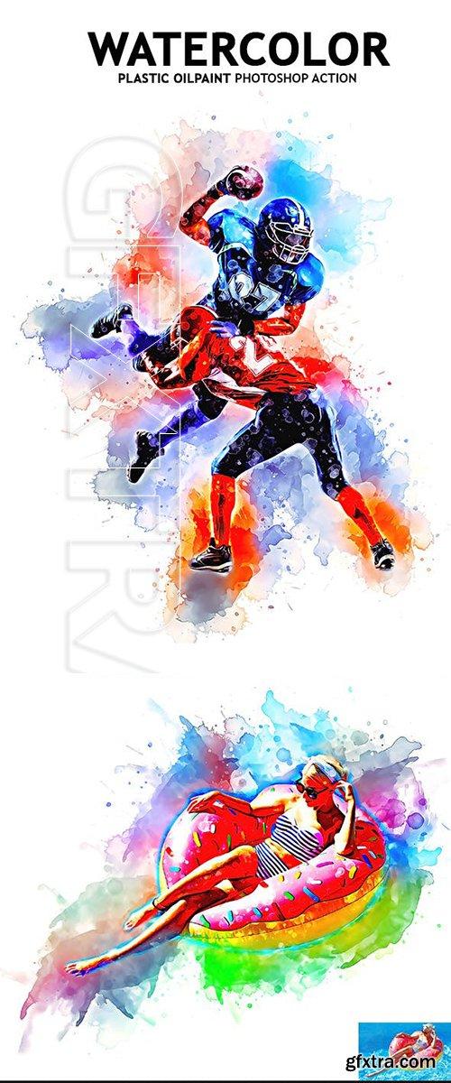 GraphicRiver - Watercolor Plastic Oilpaint Photoshop Action 23120204