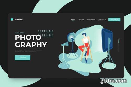 Freelance Photographer Vector Illustration