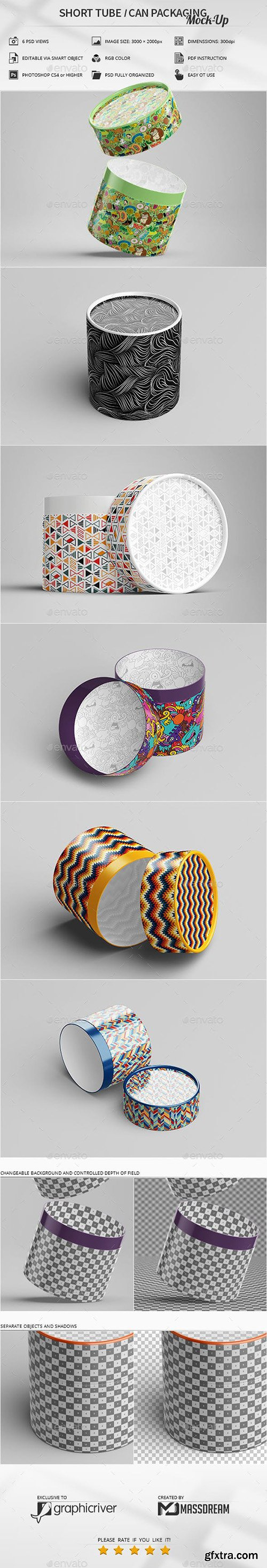 Short Tube / Can Packaging Mock-Up 23079644