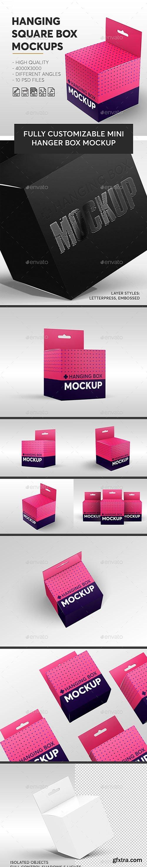 Hanging Square Box Mockups V.1 | Miscellaneous 23078385