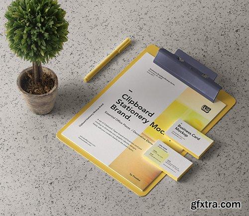 Psd Clipboard Stationery Mockup Brand