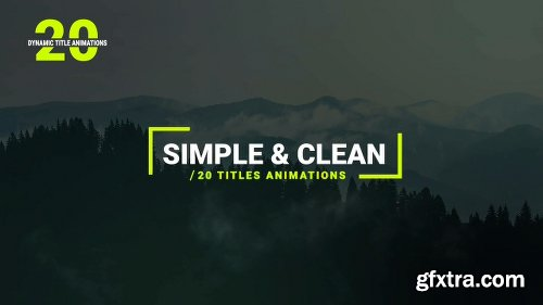 Videohive Dynamic Titles 22889048