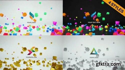 MotionArray 4 In 1 Logo Reveal 3D 75230