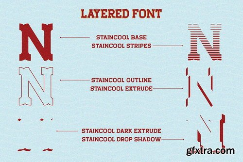 Staincool Font Family