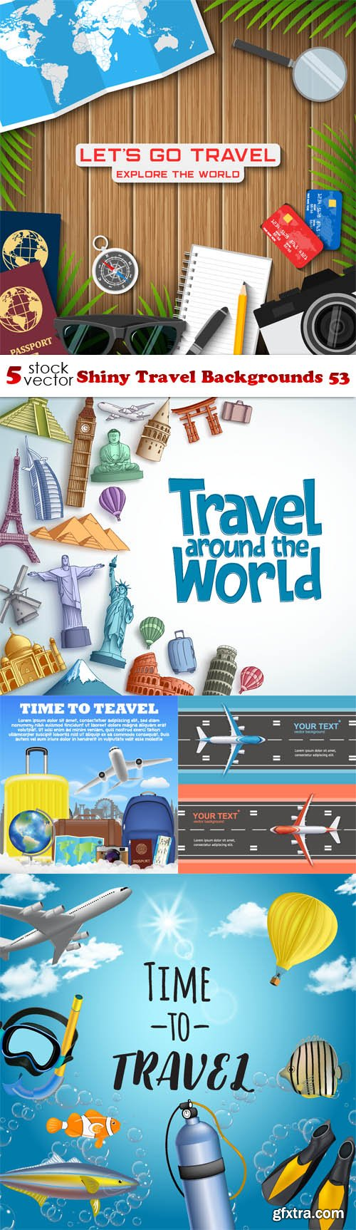 Vectors - Shiny Travel Backgrounds 53