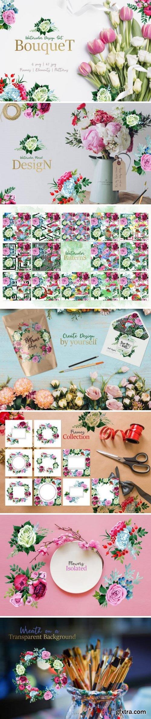 CM - Bouquet pink Tenderness Watercolor 3360516