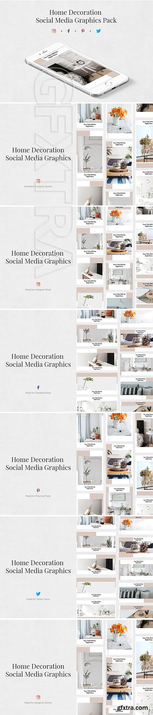 CreativeMarket - Home Decoration Pack 3363675