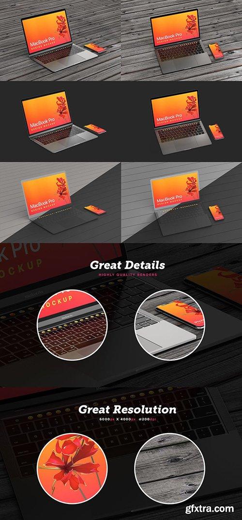 MacBook Pro & iPhone XS Design Mockup
