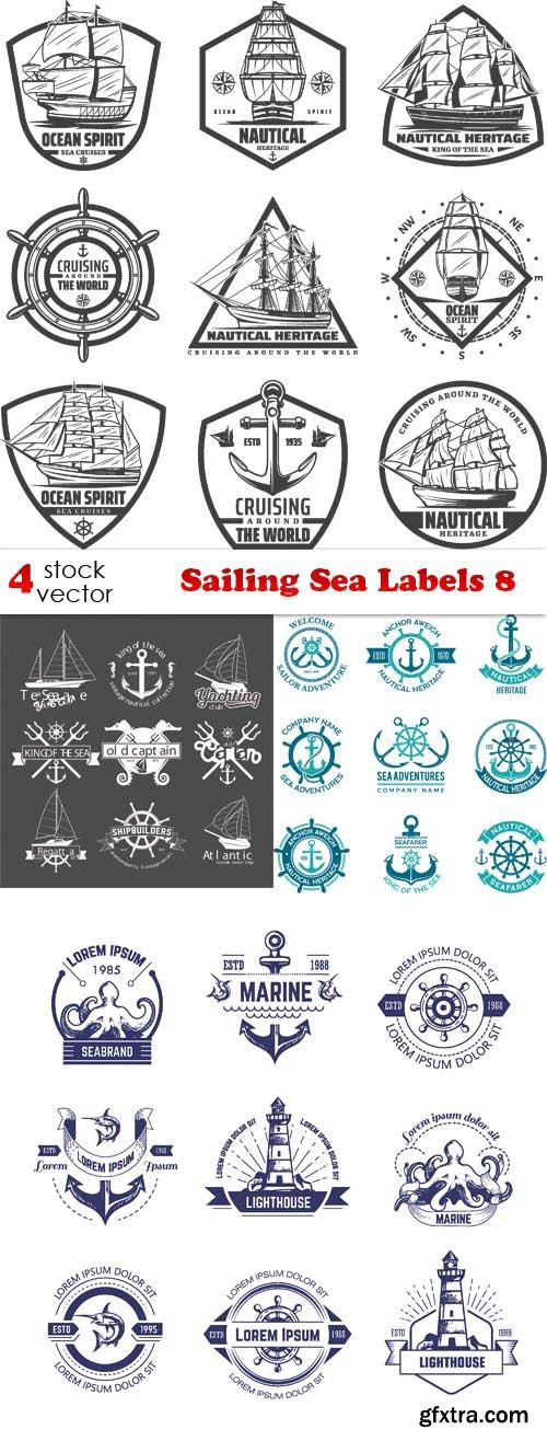 Vectors - Sailing Sea Labels 8