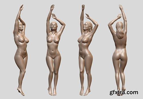 Cubebrush - Sexy female model 3D print