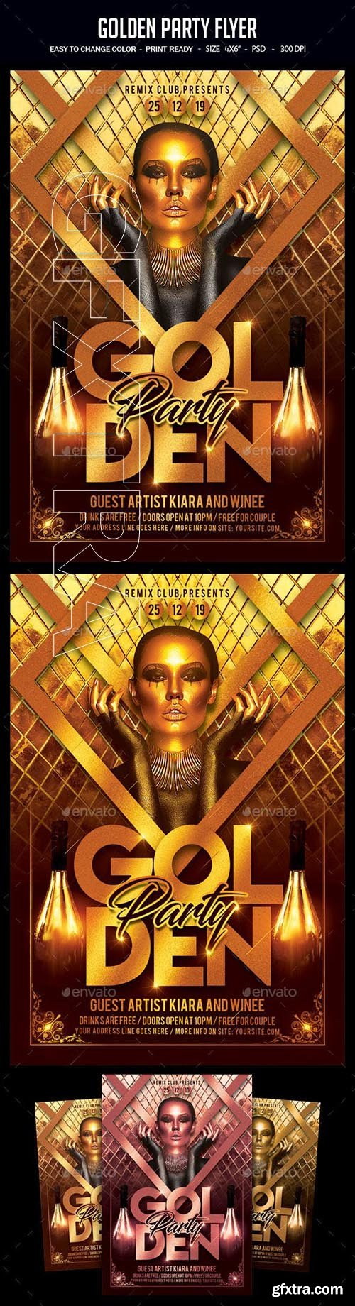GraphicRiver - Golden Party Flyer 23121182