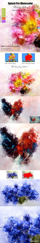 GraphicRiver - Splash Pro Watercolor Action 23087888