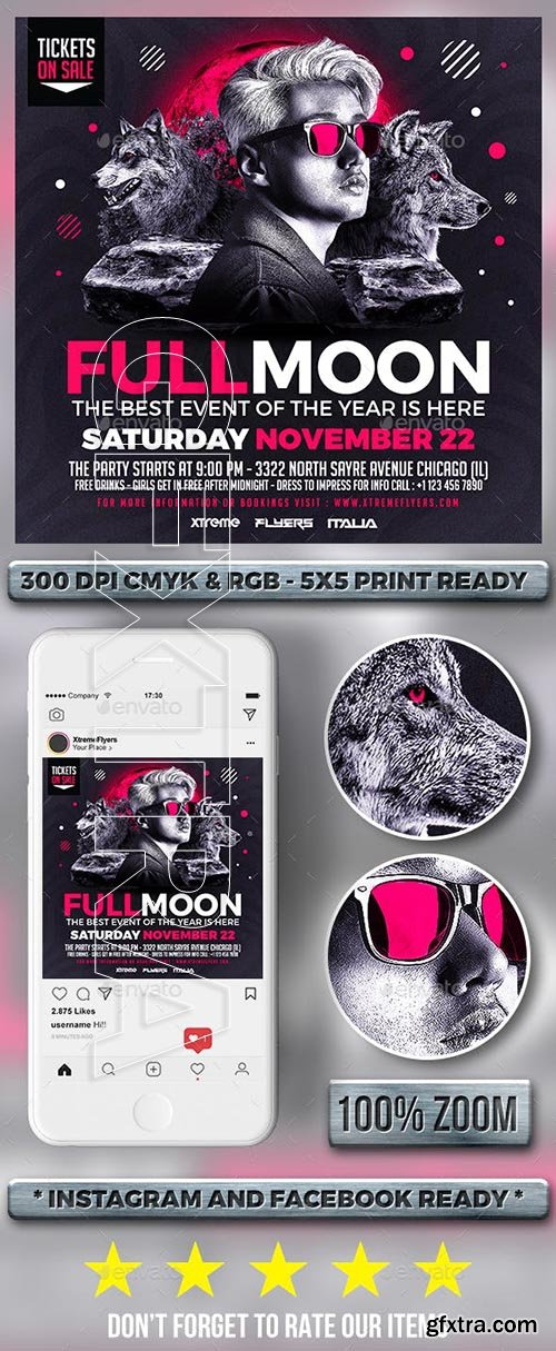 CreativeMarket - DJ Event Flyer 3353921