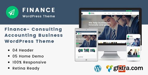 ThemeForest - Finance v1.2.6 - Consulting, Accounting WordPress Theme - 19444449
