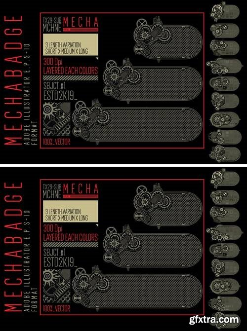 CM - 10 Horizontal MECHA badge 3369901
