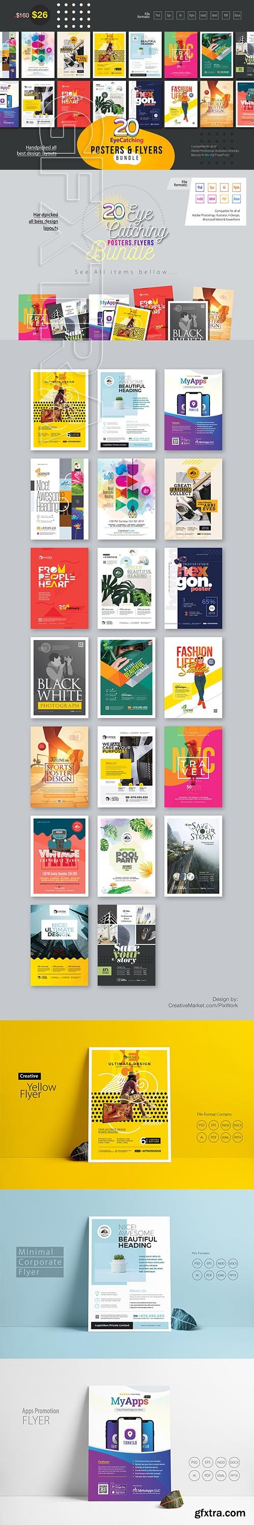 CreativeMarket - EyeCatching Poster & Flyer Bundle 3334375