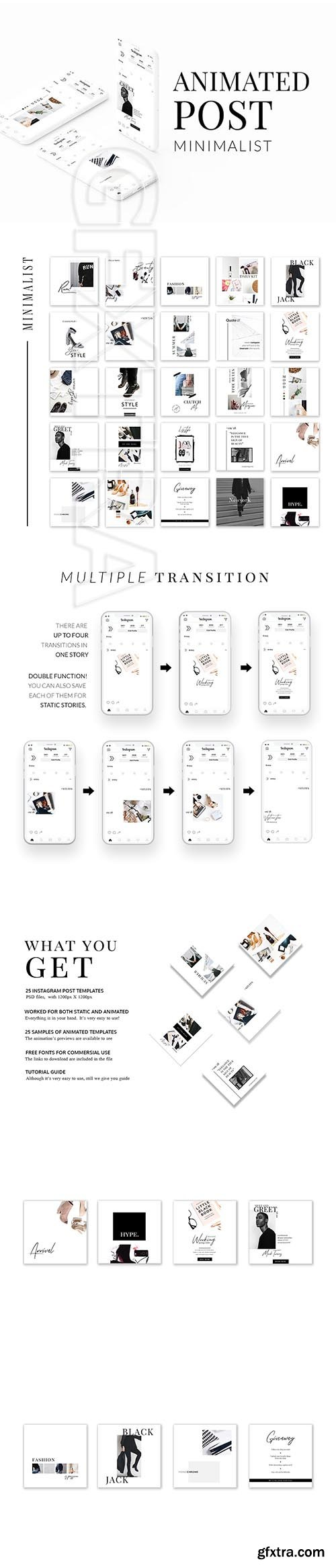 CreativeMarket - ANIMATED Instagram Minimalist Post 3325735