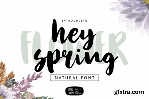 CM - Hey Spring Brush Font 3370976