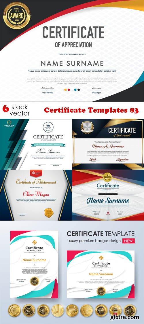 Vectors - Certificate Templates 83