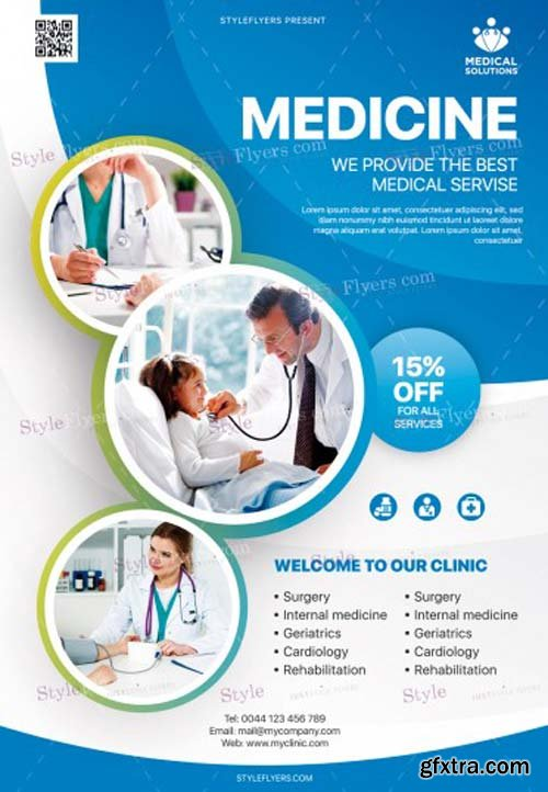 Medical Care V1 2019 PSD Flyer Template