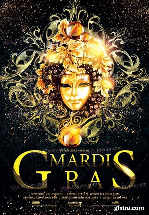 Mardi Gras V1 2019 PSD Flyer Template