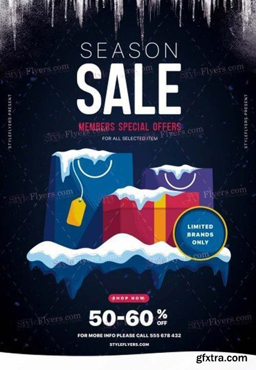 Season Sale V12 2018 PSD Flyer Template