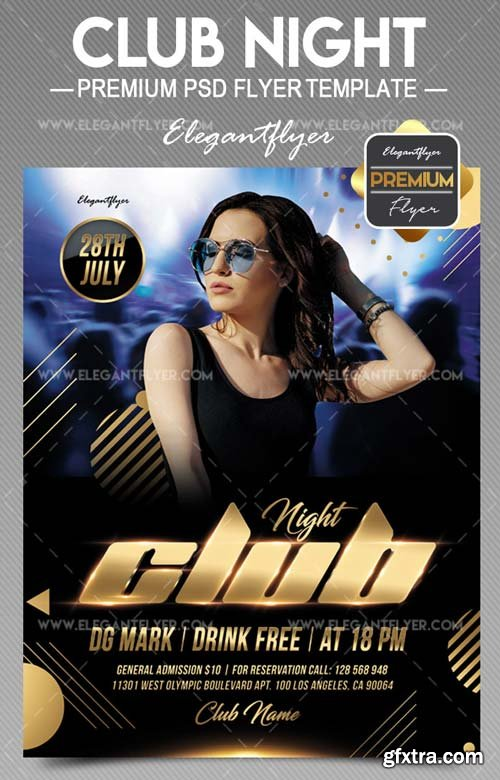 Night party V31 2018 Flyer PSD Template