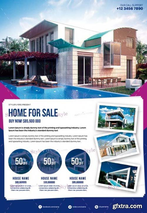 Real Estate V47 2018 PSD Flyer Template