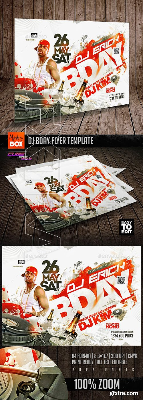 GraphicRiver - Dj Bday Flyer Template 23147179