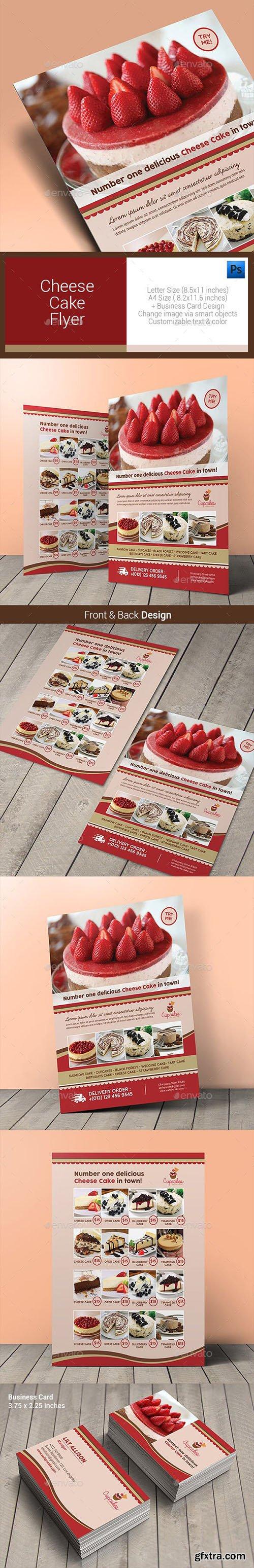 Cheese Cake Menu Flyer 10640856