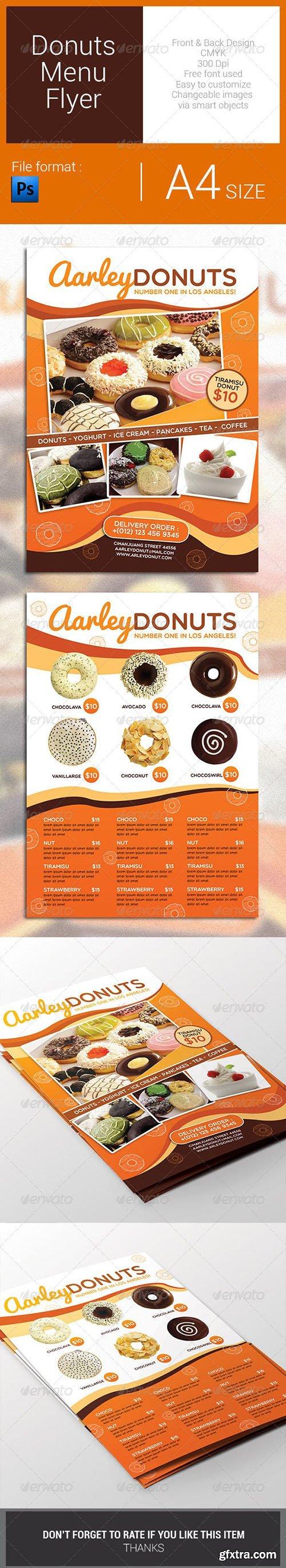 Donuts Menu Flyer 7823541