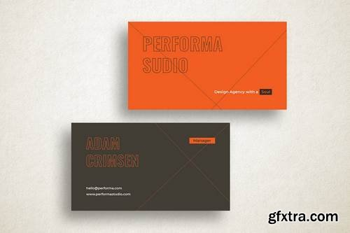 Performa Studio Business Card Template