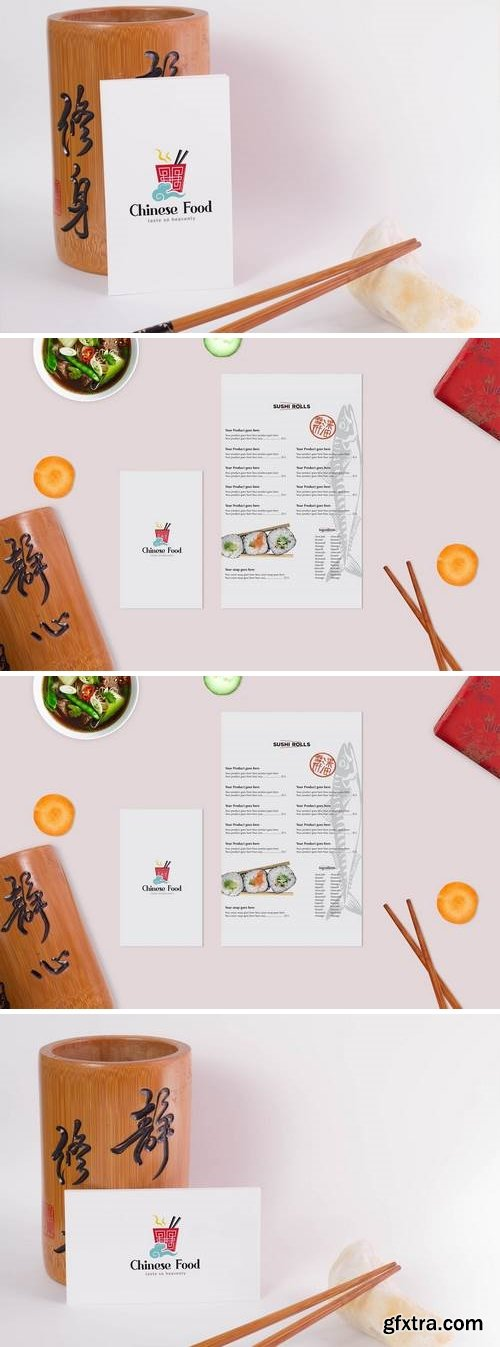 Asian Food Mock Up
