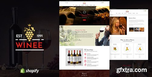 ThemeForest - Winee v1.1 - Wine, Winery Shopify Theme - 22625078