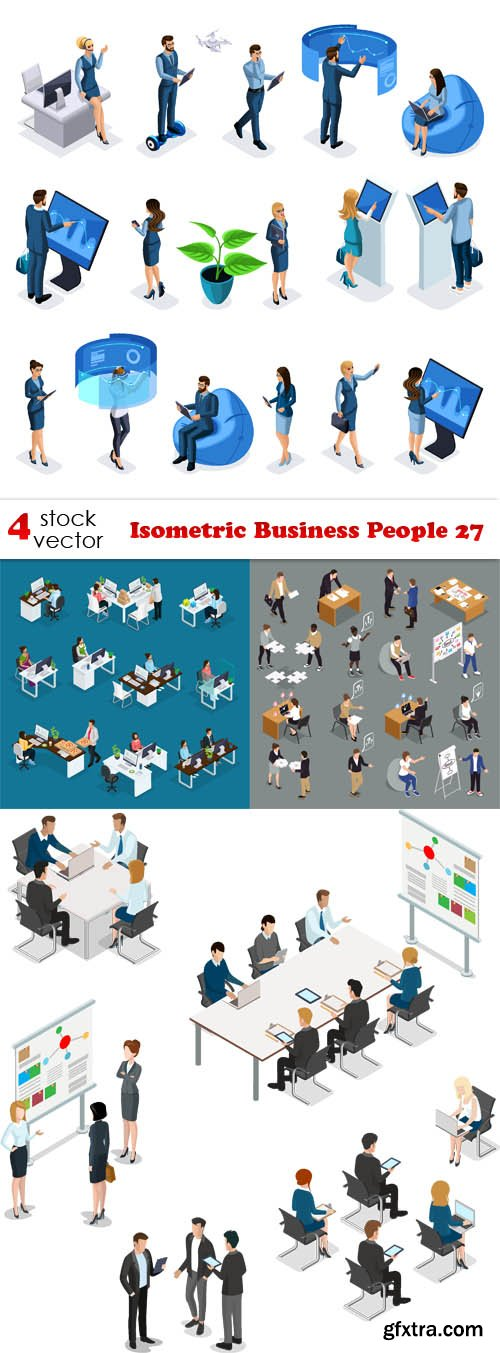 Vectors - Isometric Business People 27
