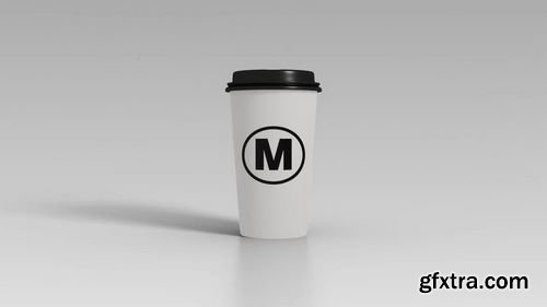 MotionArray Coffee Cup Logo Reveal 162348