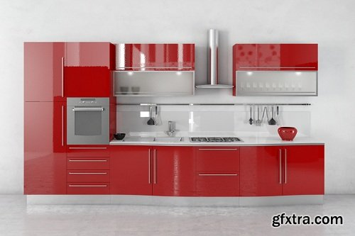 Modern Kitchen 38 3d Model