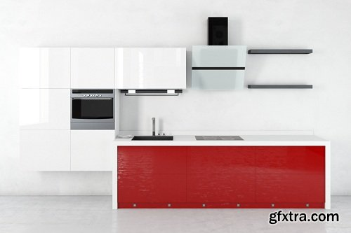 Modern Kitchen 39 3d Model