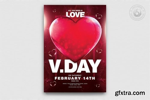 GraphicRiver - Valentines Day Flyer Template V21 23162684