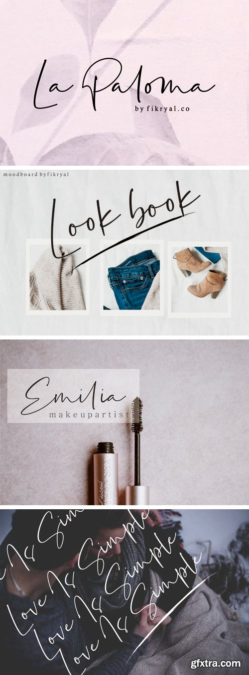 Fontbundles - La Paloma // Handwritten Font