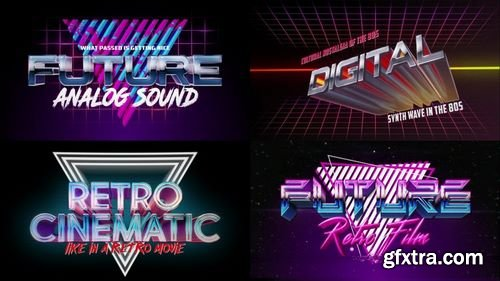 MotionArray Retro Wave Logo Pack 162616