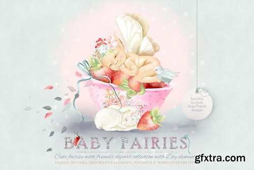CM - Baby Fairies Clipart Collection 2770171