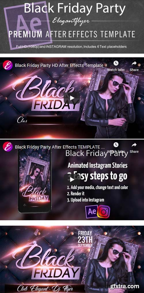 Black Friday Party V1 2019 After Effects Template