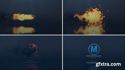 MotionArray Fire Explode Logo 163512