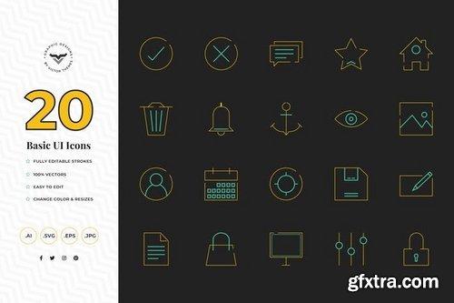 UI Hallowen Education  E-commerce & Shopping Icons Set