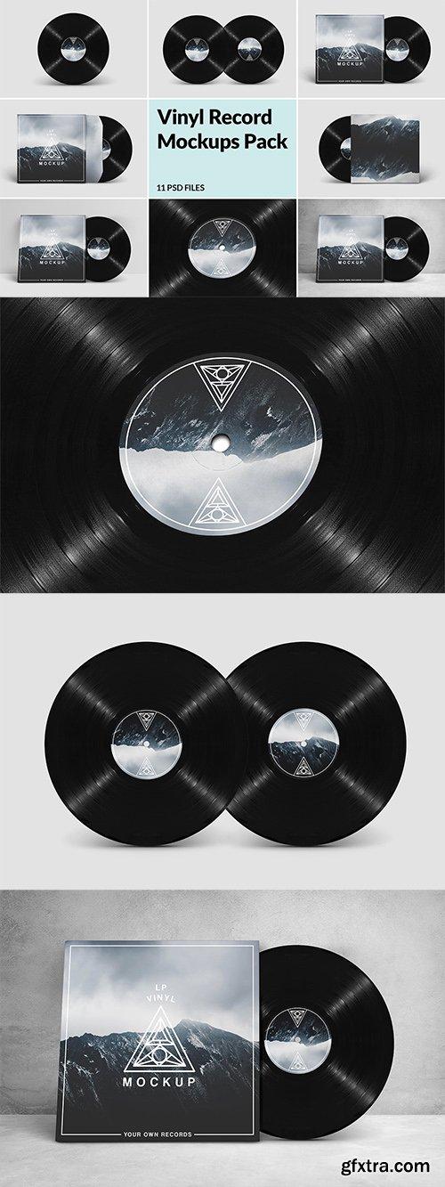 Vinyl Record Mockups Pack