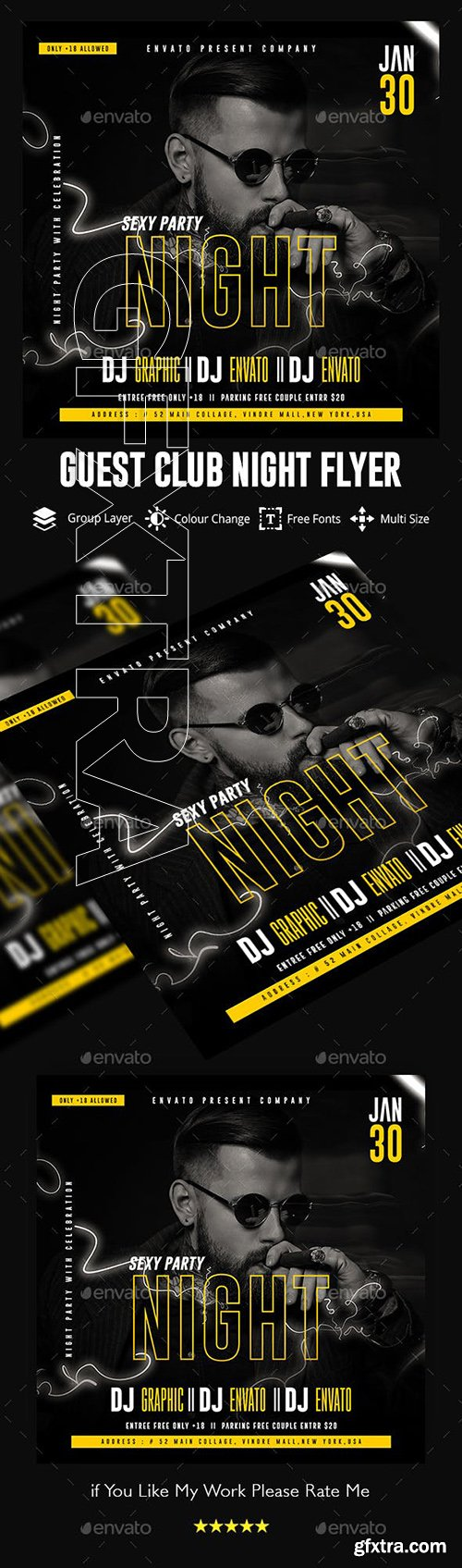 GraphicRiver - Guest Dj Night Flyer Template 23126639