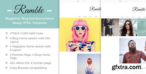 ThemeForest - Ramble v1.0 - Multi-Concept Blog, Magazine And Shop HTML Template - 15370293