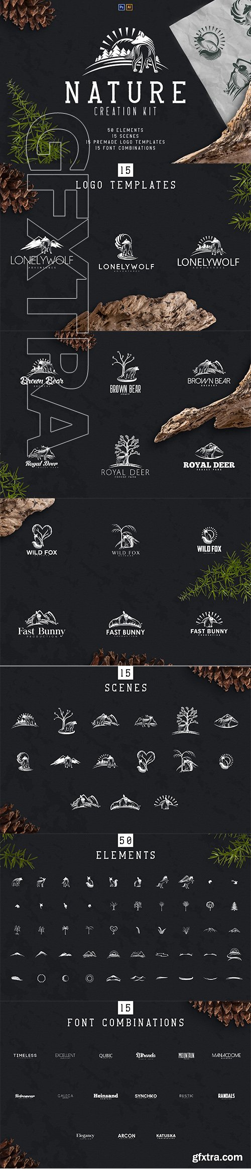 CreativeMarket - Nature Creation Kit 3370721